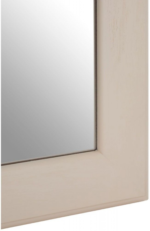 Heritage Antique White Rectangular Wall Mirror - 60cm x 90cm