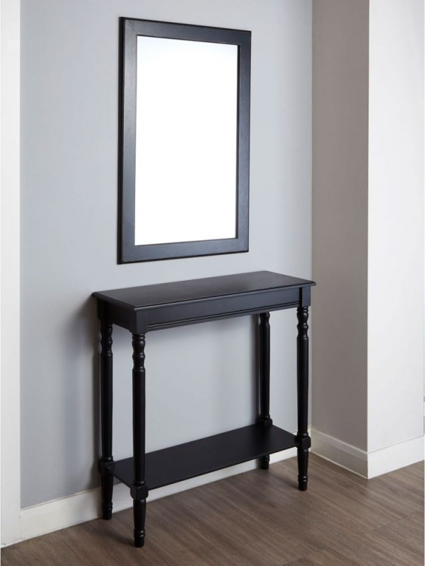 Heritage Black Rectangular Wall Mirror - 60cm x 90cm