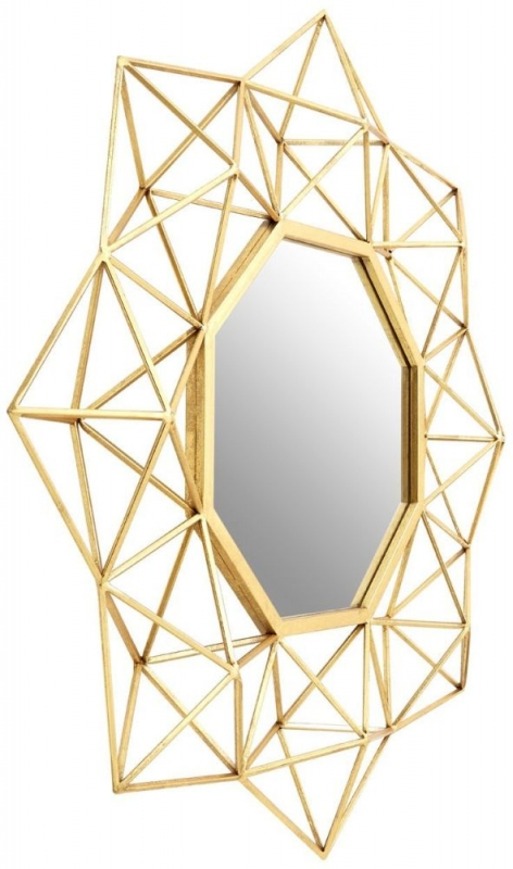 Farran Champagne Large 2 Sided Wall Mirror - 81cm x 81cm