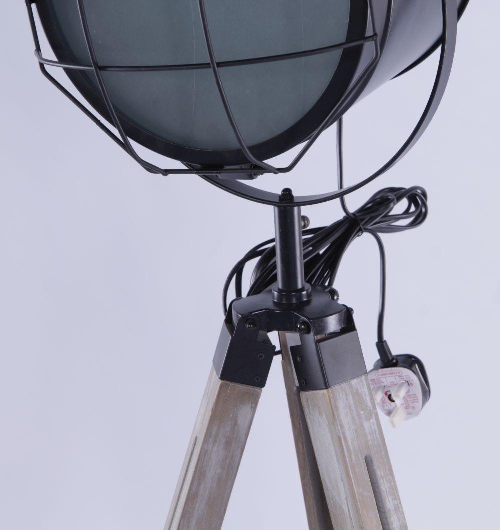 Urban Deco Decorative Black Metal Tripod Light