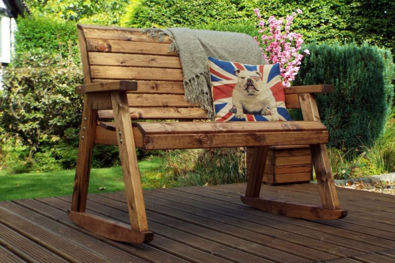 be620ccc3f1ca Buy Charles Taylor 2 Seater Rocker Garden Bench Online - CFS UK