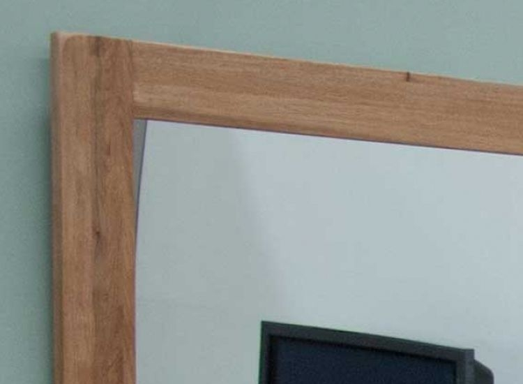 Homestyle GB Rustic Oak Rectangular Wall Mirror - 60cm x 90cm