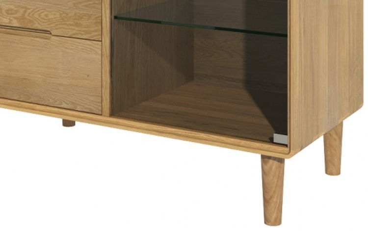 Homestyle GB Scandic Oak Small Glazed Chest