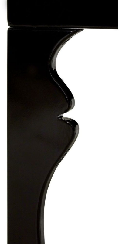 Luis Black High Gloss Side Table