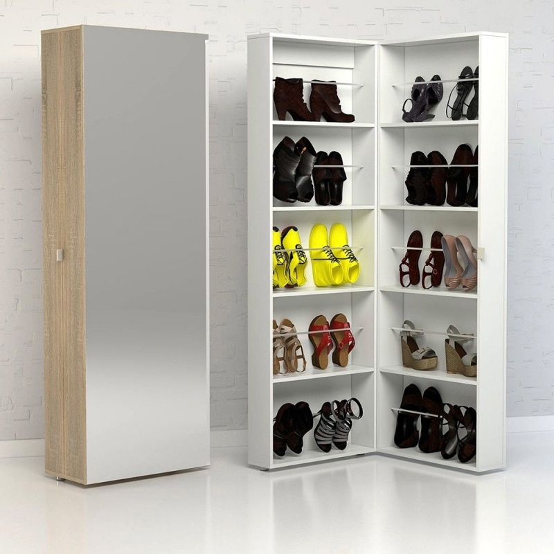 Bright White Shoe Cabinet