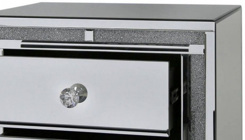 Naro Mirrored Bedside Cabinet