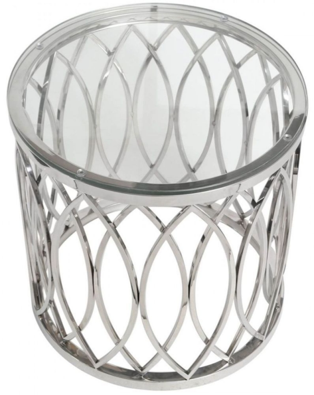 Wisner End Table - Glass and Chrome