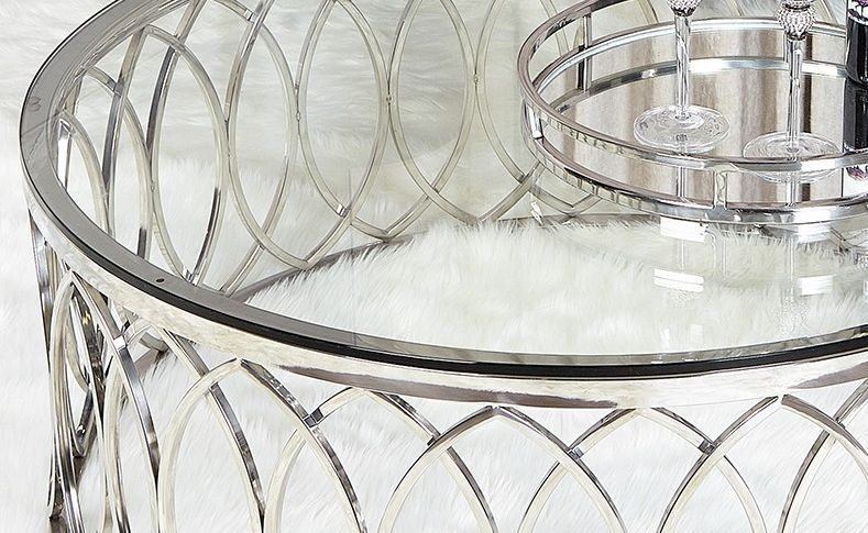 Wisner Coffee Table - Glass and Chrome