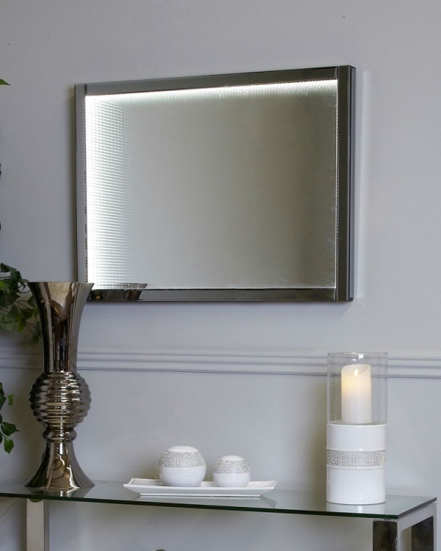 Orbit Smoked Mirrored Infinity Small Wall Light