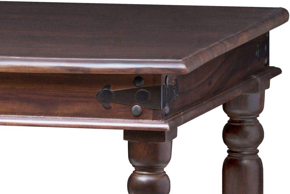 Wood Jali Sheesham Square Dining Table - 100cm