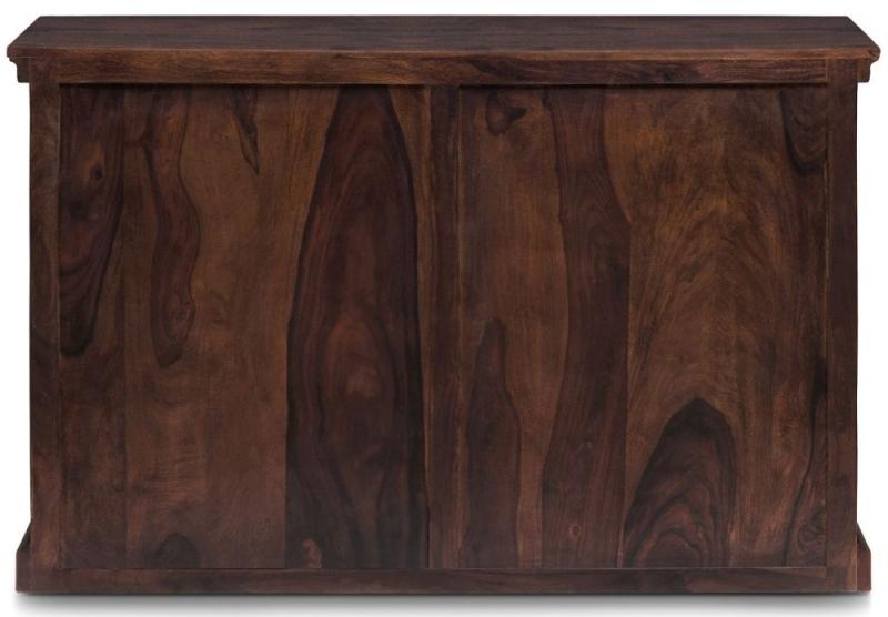 Iron Jali Sheesham 1 Door 2 Drawer Single Pedestal Desk