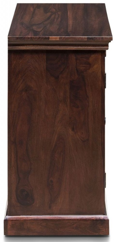 Iron Jali Sheesham 2 Door 3 Drawer Wide Sideboard