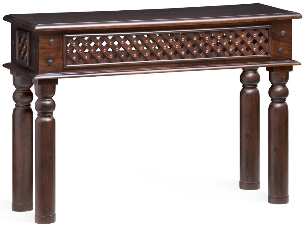 Wood Jali Sheesham Console Table