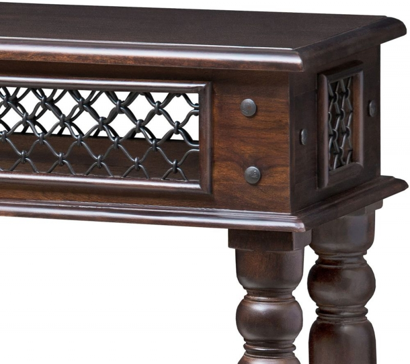 Iron Jali Sheesham Console Table
