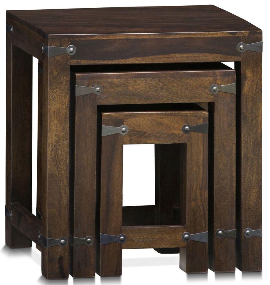 Gothic Sheesham Wood Nest of Tables