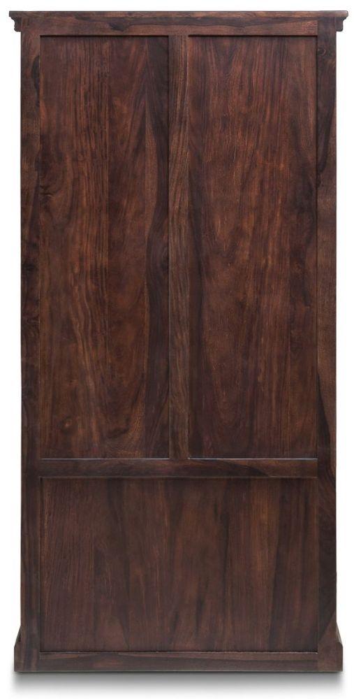 Iron Jali Sheesham 2 Door 3 Shelves Large Bookcase