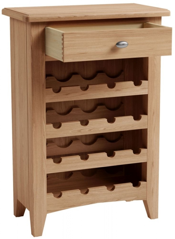 Eva Light Oak Wine Cabinet