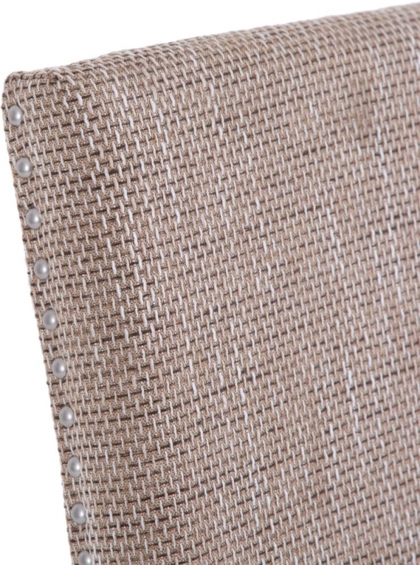 Tweed Fabric Studded Dining Chair (Pair)