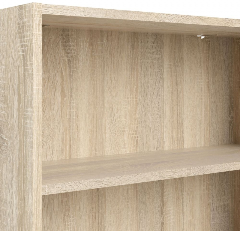 Basic Oak Low Wide Bookcase