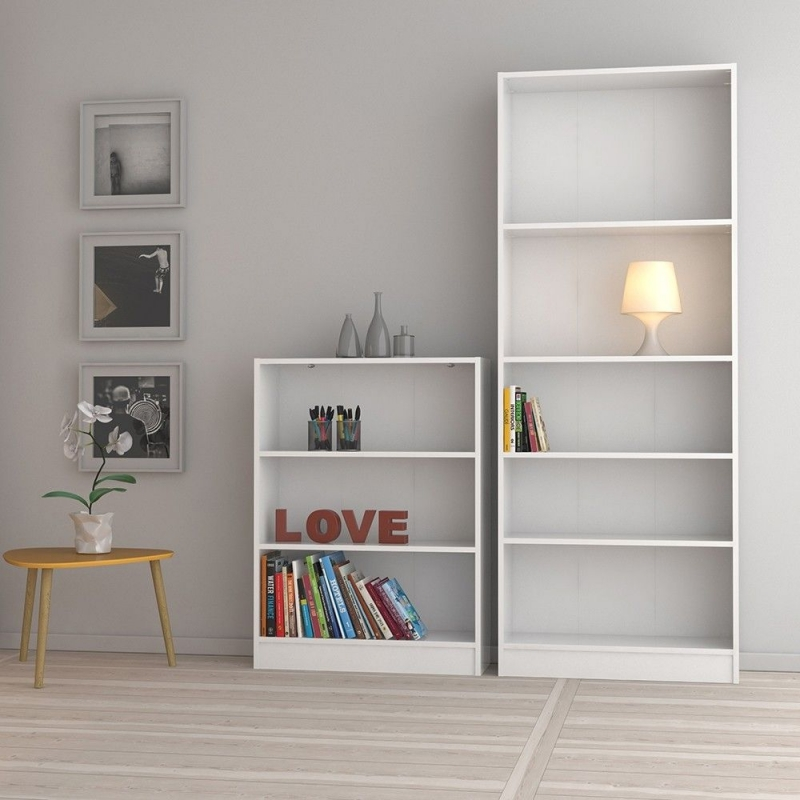 Basic White Tall Wide Bookcase