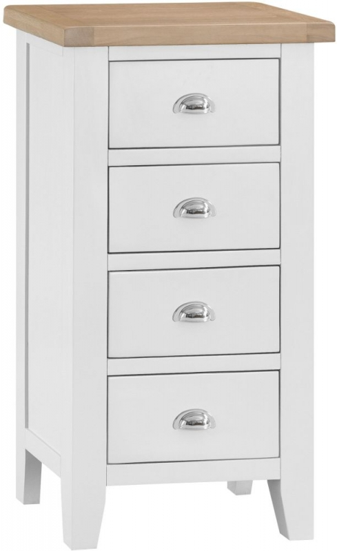 Hampstead Oak and White Painted 4 Drawer Chest