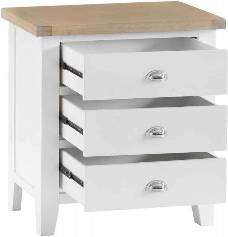 Hampstead Oak and White Painted 3 Drawer Chest