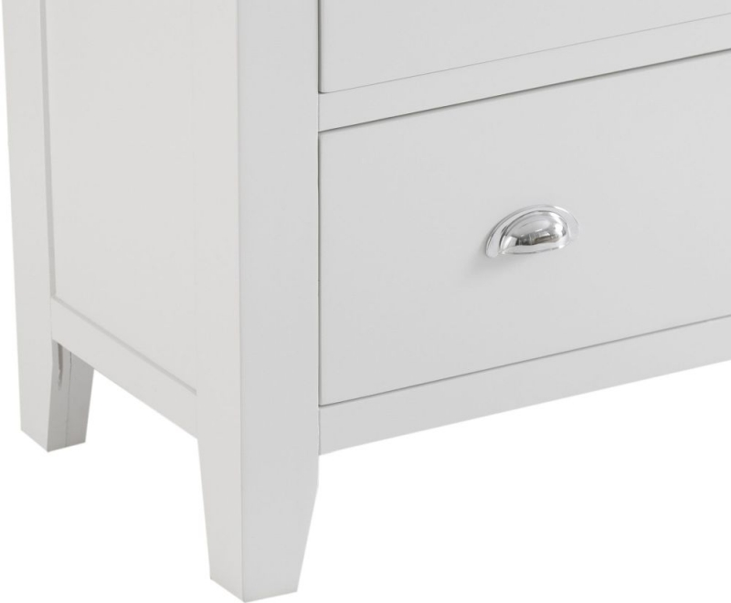Hampstead Oak and White Painted 2+3 Drawer Jumbo Chest