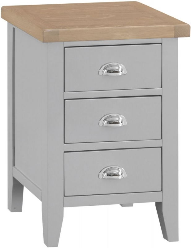 Hampstead Bedside Cabinet - Oak and Grey Painted