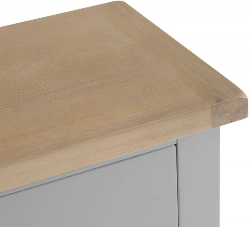 Hampstead Oak and Grey Painted 3 Drawer Chest