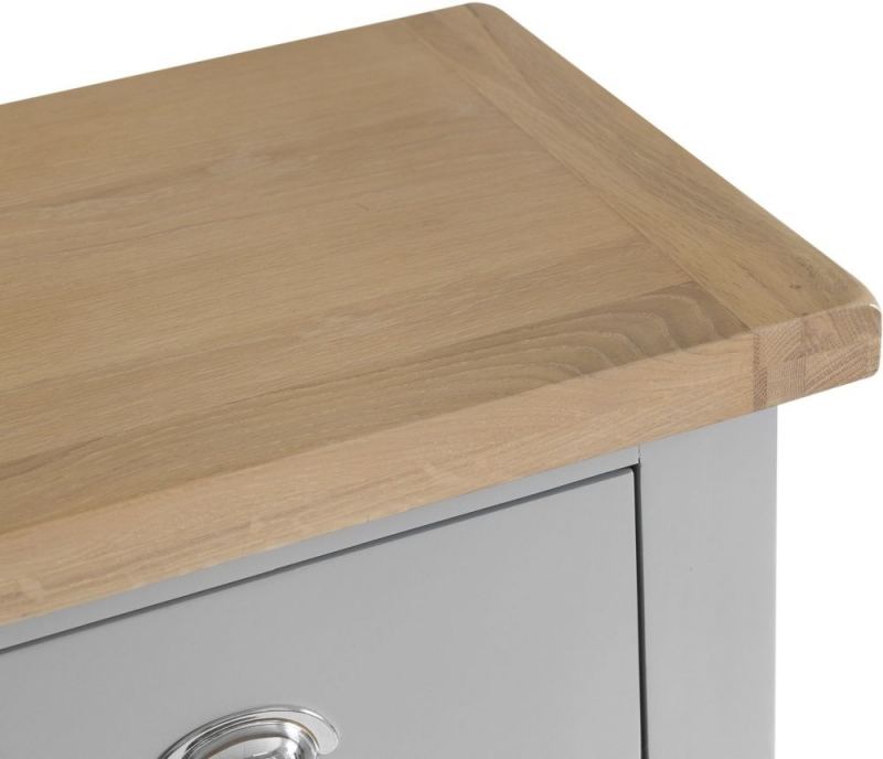Hampstead Oak and Grey Painted 2+3 Drawer Chest