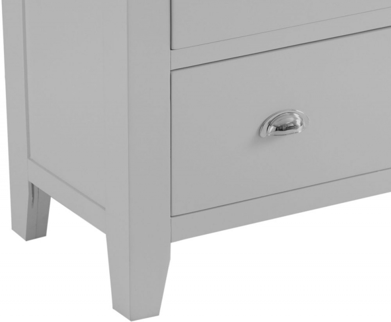Hampstead Oak and Grey Painted 2+3 Drawer Jumbo Chest