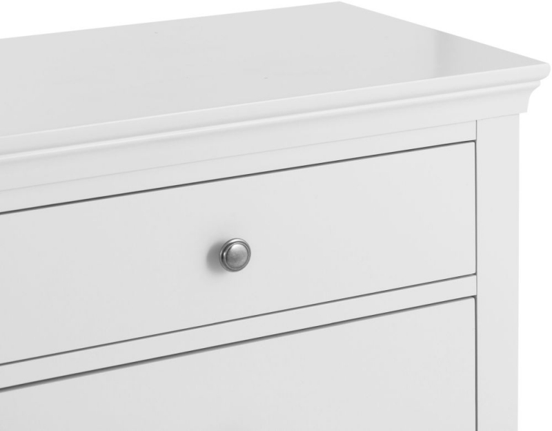 Chantilly White Painted 6 Drawer Chest