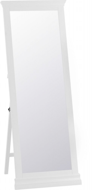 Chantilly White Painted Cheval Mirror