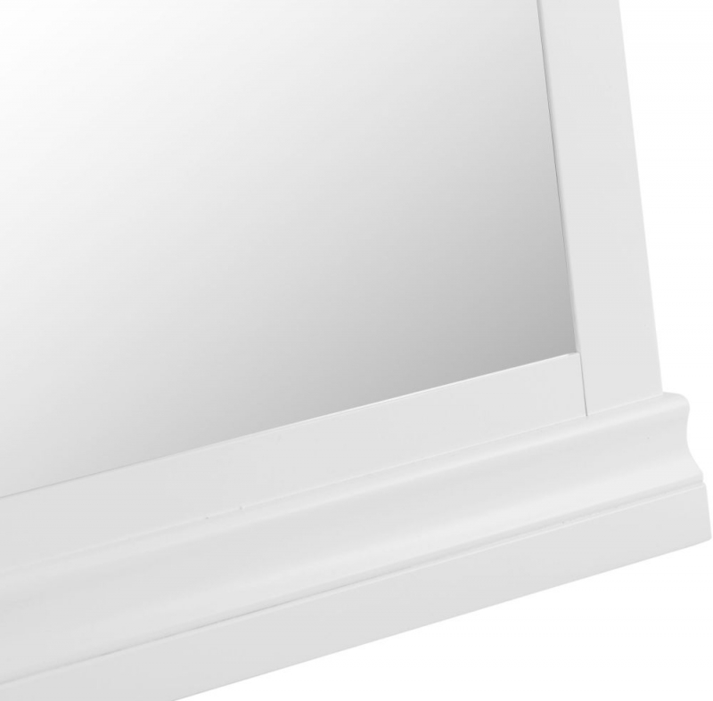 Chantilly Cheval Mirror - White painted