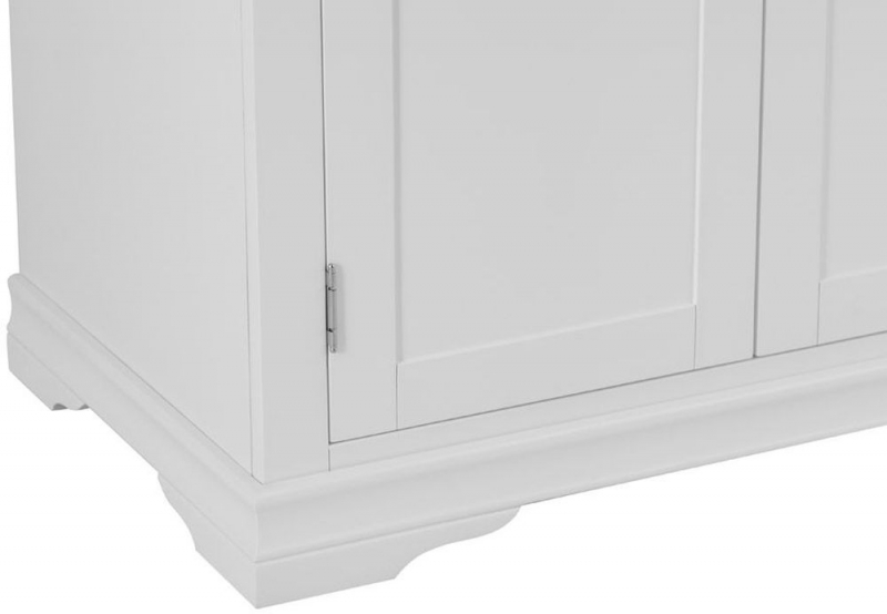 Chantilly White Painted 2 Door Wardrobe