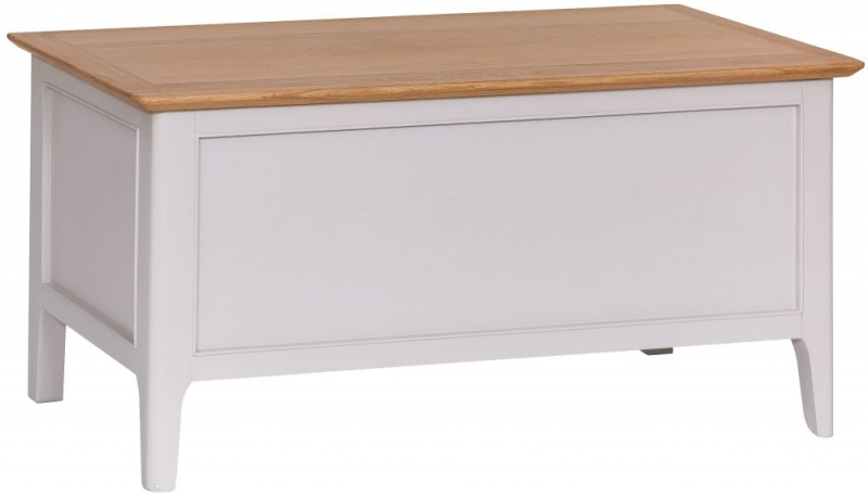 Shore Blanket Box - Oak and Dove Grey Painted