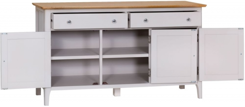 Shore Large Sideboard - Oak and Dove Grey Painted