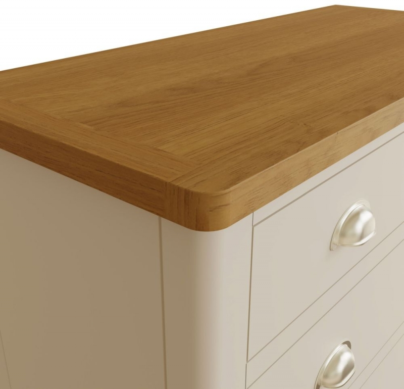 Portland Oak and Dove Grey Painted 2+3 Drawer Chest