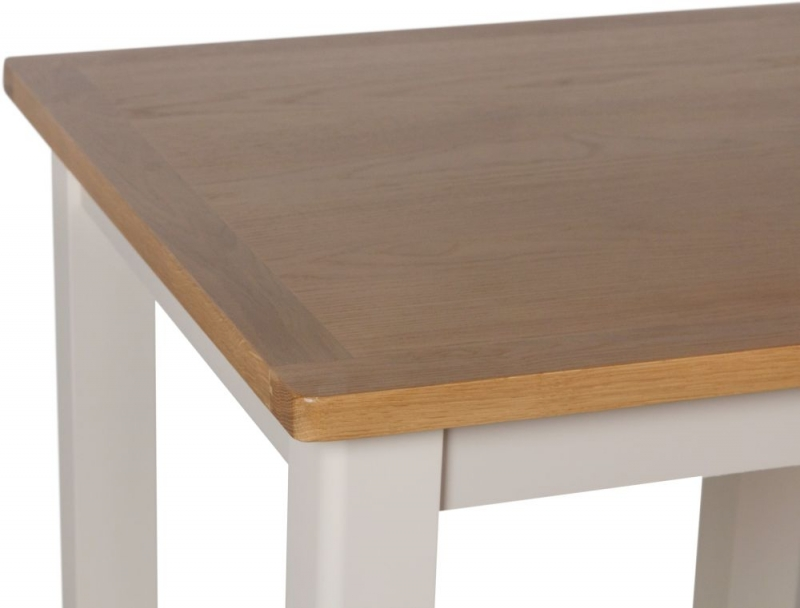 Portland Oak and Dove Grey Painted Square Dining Table