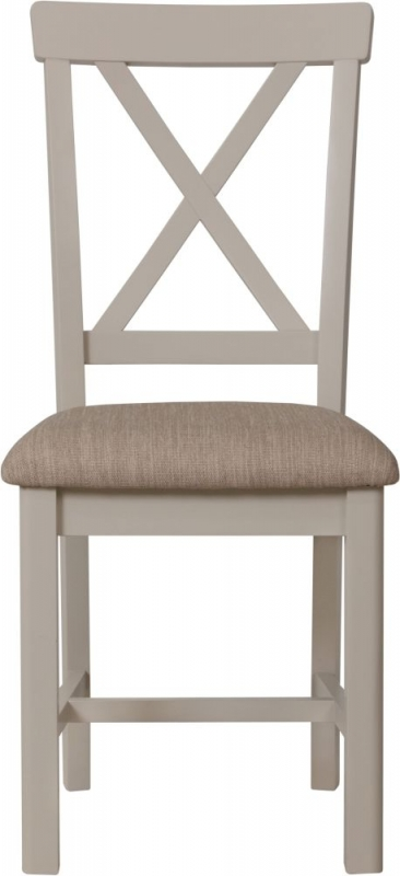 Portland Dove Grey Painted Dining Chair (Pair)