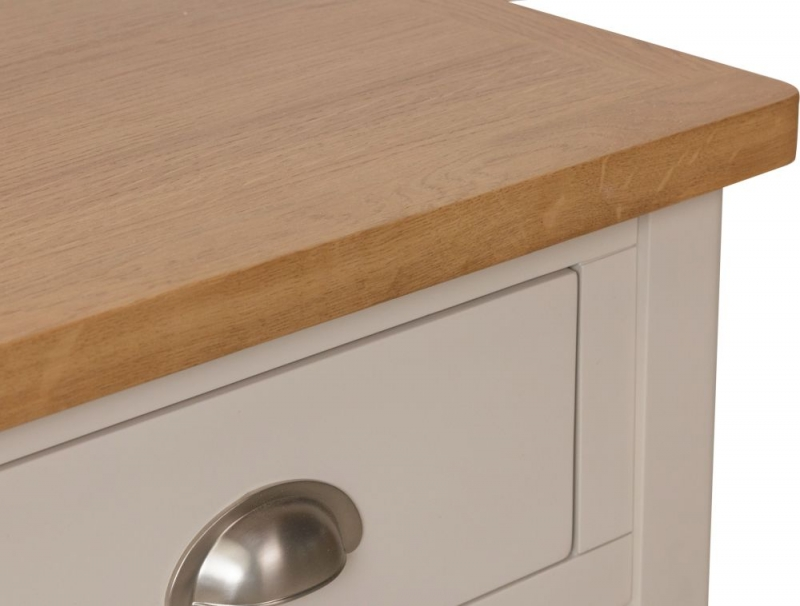 Portland Oak and Dove Grey Painted 1 Drawer Telephone Table