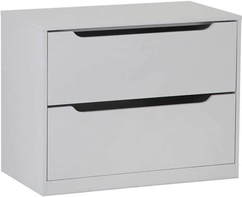 Annecy 2 Drawer Chest - Soft Grey Painted