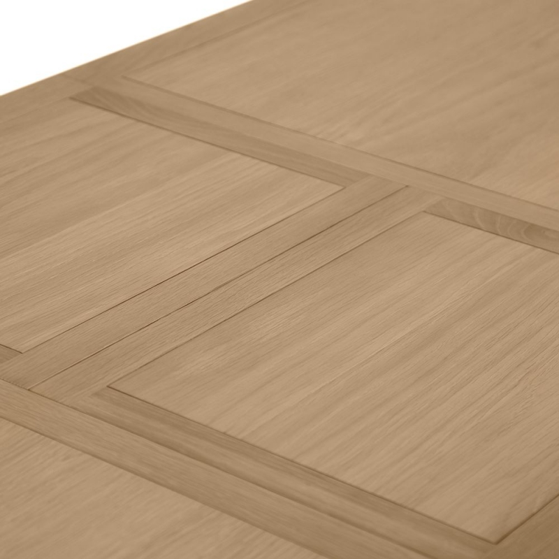 Annecy Oak and Soft Grey Painted 130cm Extending Dining Table