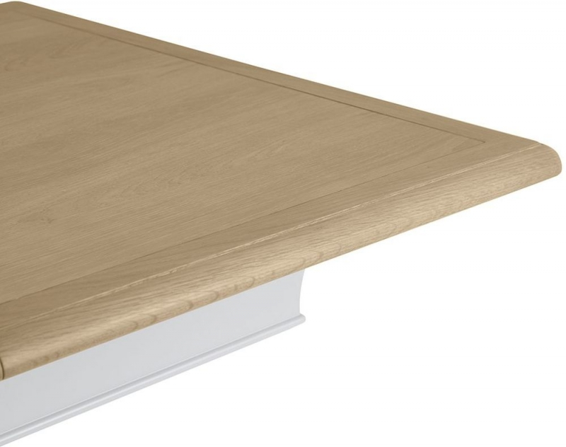 Annecy Oak and Soft Grey Painted 210cm Extending Dining Table