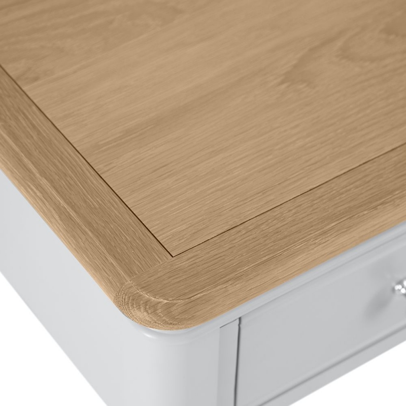 Annecy Oak and Soft Grey Painted 1 Drawer Lamp Table