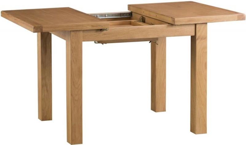 Tucson Oak Small 100cm Butterfly Extending Dining Table