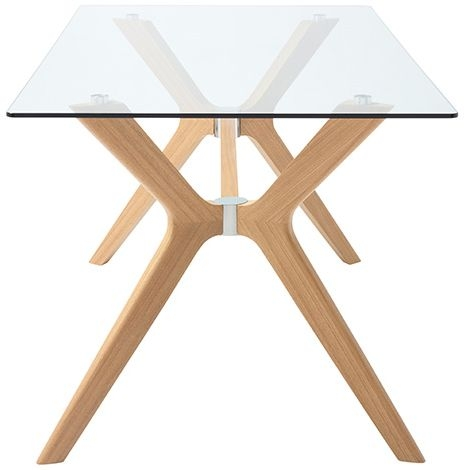 Serene Marbella Dining Table - Glass and Oak