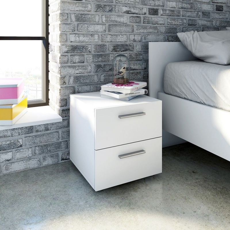 Pepe Bedside Cabinet - White