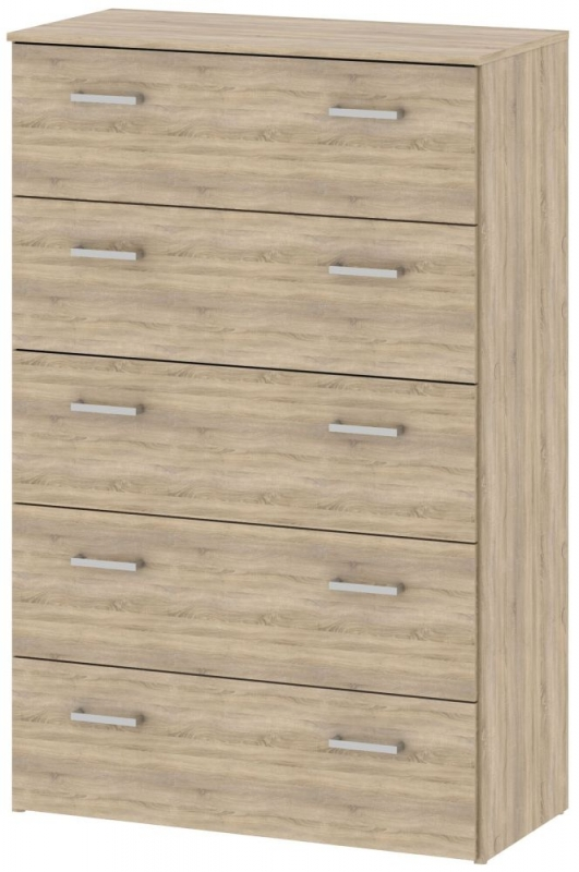 Space Oak 5 Drawer Chest
