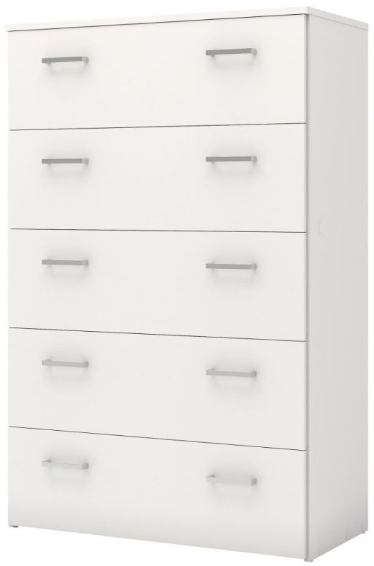 Space White 5 Drawer Chest